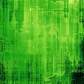 Abstract vintage background with grunge stains. With green patterns