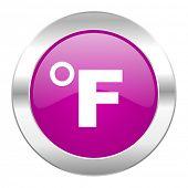 fahrenheit violet circle chrome web icon isolated