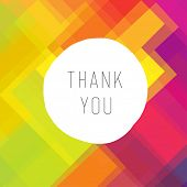 Thank you card colorful, vector