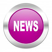 news violet circle chrome web icon isolated