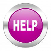 help violet circle chrome web icon isolated