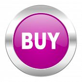 buy violet circle chrome web icon isolated