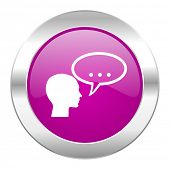 forum violet circle chrome web icon isolated