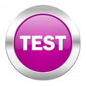 test violet circle chrome web icon isolated