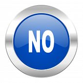 no blue circle chrome web icon isolated