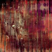 Old texture background with delicate abstract elements. With brown, red, orange, black patterns