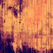 Old texture with delicate abstract grunge background. With yellow, orange, violet patterns