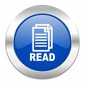read blue circle chrome web icon isolated