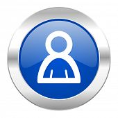 person blue circle chrome web icon isolated