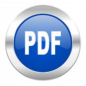 pdf blue circle chrome web icon isolated