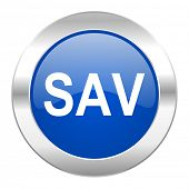 sav blue circle chrome web icon isolated