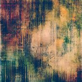 Old designed texture as abstract grunge background. With yellow, brown, green, black patterns