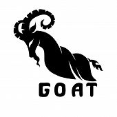Stylized Image Of A Goat Silhouette