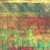 Art grunge vintage textured background with abstract elements. With yellow, brown, red, green patter