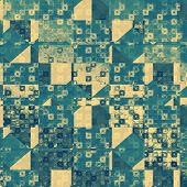 Vintage texture for background. With yellow, green, blue patterns