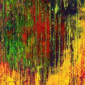 Abstract grunge textured background. With yellow, red, orange, green patterns