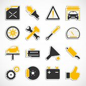 Car Service Icons - Yellow