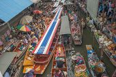 Damnoen Saduak floating market  in Ratchaburi