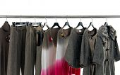 Fashion female,autumn clothes rack display