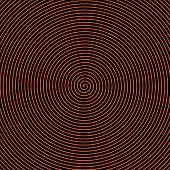Black And Orange Spiral