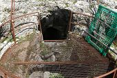 Ancient Trap Door For Access To The Fortification Of The First World War In The Mountains
