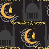 Crescent and lantern to light the holy Muslim month of Ramadan Kareem community.