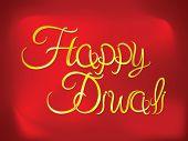 Abstract Artistic Diwali Golden Text