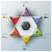 Modern Fission Triangle And Hexagon Business Infographic
