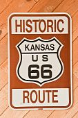 Sinal de Kansas rota 66