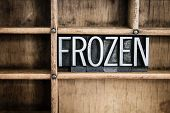 Frozen Concept Metal Letterpress Word In Drawer