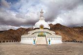 Tall Shanti Stupa Near Leh