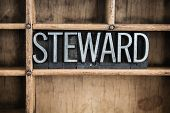 Steward Concept Metal Letterpress Word In Drawer