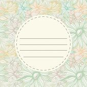 Seamless Flowers Pattern With Frame Label