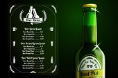 Menu template - beer and alcohol with place for logo of your pub, restaurant, cafe etc. vector.