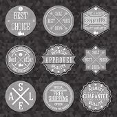 Collection of hipster vintage business labels with popular trade phrases for selling. Vector