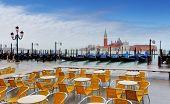 Gondolas By San Giorgio Maggiore, Venice, Italy