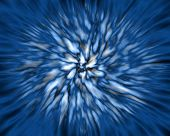Abstract Blue Background, Explosion