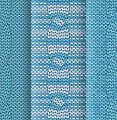 Cabled knitted pattern blue and white