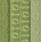Cabled knitted pattern green