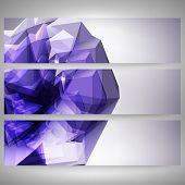 Abstract dimensional polygonal geometric backgrounds set for modern design