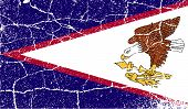 Flag Of American Samoa With Old Texture. Vector