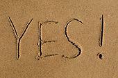 Yes Written In Sand