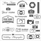 Collection of vintage, retro and modern logo, icons and elements for logotypes