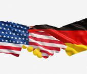 Germany And Us Flags