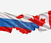 Russia Canada Handshake