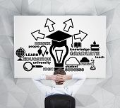 Graduate Looking At Education Symbol