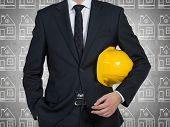 Businessman With Yellow Helmet