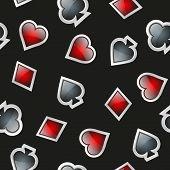 Universal casino cards seamless patterns.