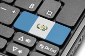Go To Guatemala! Computer Keyboard With Flag Key.
