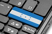 Go To Honduras! Computer Keyboard With Flag Key.